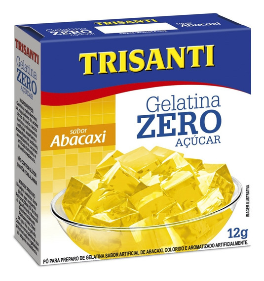 Gelatina Zero Açúcar Abacaxi 12g Trisanti