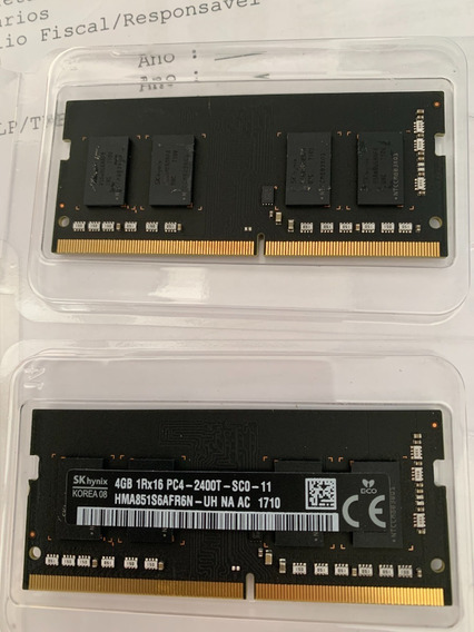2 Pentes De Memória Ddr 4 Sodimm 4gb Sk Hynix 2400 Apple Mac