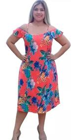 Vestidos Viscoycra Plus Size Kit Com 2 Peças