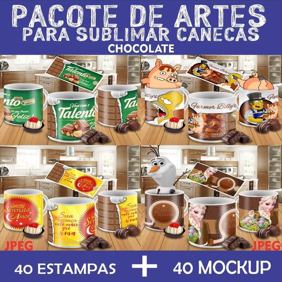 Arte Estampas Para Sublimação De Canecas Chocolate Jpeg
