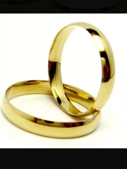 Aliança De Casamento Ouro 18k 750 E 3 Gramas