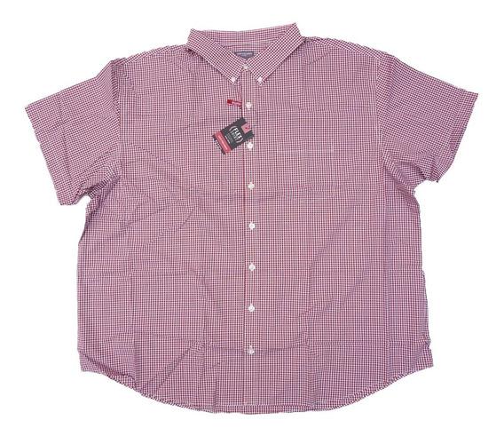 Camisa Manga Corta Van Heusen 3xl Flex Natural Stretch Big