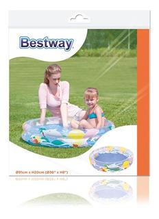 Bestway Pileta Inflable Acuario 2 Aros 91x20cm 51012 Bigshop