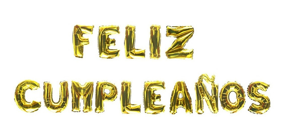 Globos De Letra Metalicos Feliz Cumpleaños 40 Cm Letrero A7