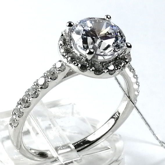 2.8ct Anillo Boda Compromiso Diamante Brillante Vvs1 14k