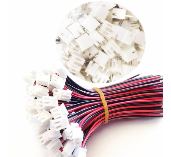 100pcs 15cm Jst Xh2.54-2p 2.54mm Pitch 2 Pin Connectors Kit