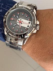 Relógio Masculino Exclusive Atlantis Original Prata+ Caixa