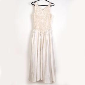 Roupas P/estudio Fotog - Vestido Branco C/ Bordados De Pedra