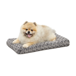 Midwest Quiet Time Pet Bed Deluxe Gray Ombre Swirl 21 X 12