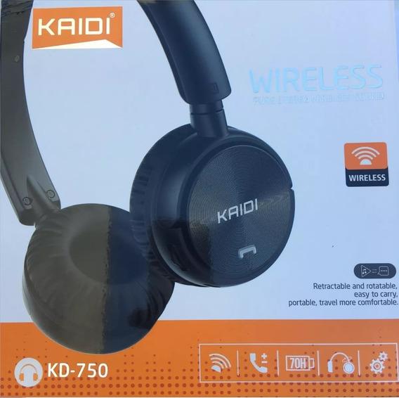 Fone De Ouvido Bluetooth Kaidi Kd-750 - Fm/aux/cartão