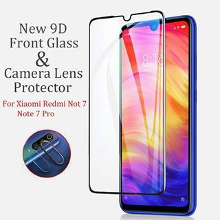 Redmi Note 7 Fibra De Vidrio 9 D Y Doble Protector De Cámara