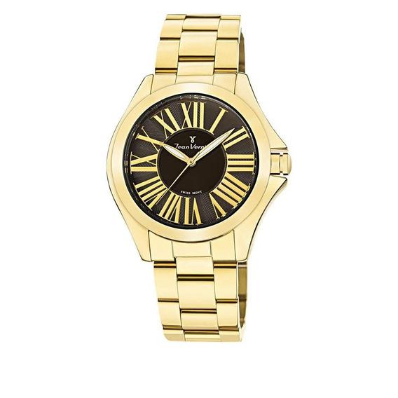 Relógio Jean Vernier Feminino Ref: Jv1125 Fashion Dourado