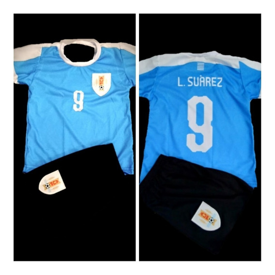 Conjunto Infantil Do Uruguai Luiz Soares Camisa 9