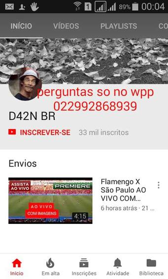 Canal 33mil Inscritos No Youtube