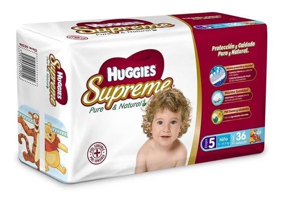 Huggies Supreme Nino E5 1 Paquete 36 Pañales