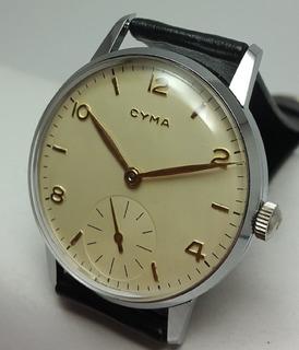 Reloj Cyma Vintage Jumbo Cal.586,15 Liñ. 1ra.serie C/estuche
