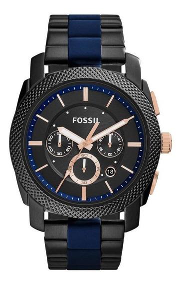 Relógio Masculino Fossil Fs5164/1fn 45mm Aço Grafite