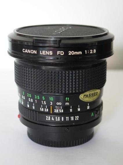 Lente Canon Fd 20mm 2.8. Super Gran Angular