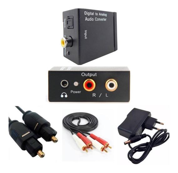 Adaptador Audio Optico Digital + Cabo Óptico +cabo Rca