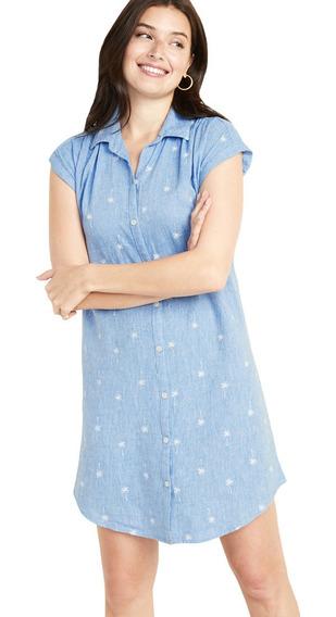 Vestido Casual Dama Mujer Manga Corta Camisa 409813 Old Navy