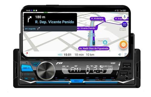 Imagem 1 de 8 de Rádio Automotivo Bluetooth 1020bt Smartphone Receiver Usb R8