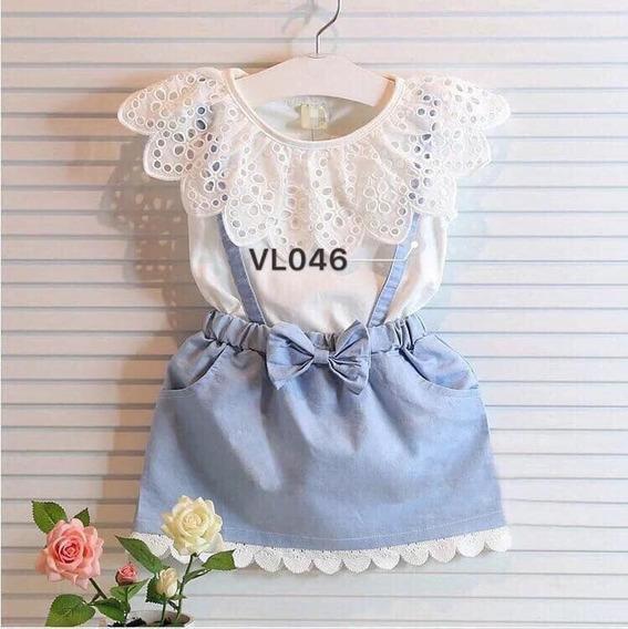 Vestido Bebé Nena Fiesta Cumpleaños Bautismo Importado Vl046