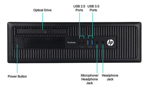 Cpu Hp Elitedesk 800 Core I5 4ª 8gb Hd 320gb Dvd Wifi