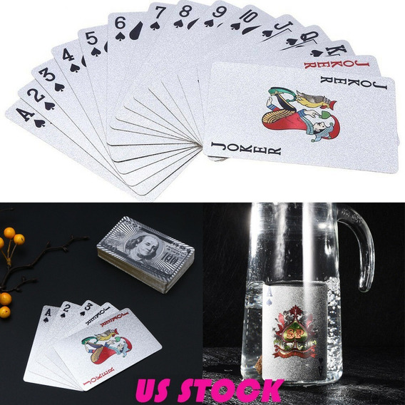Baralho Folheado Prata 925 Poker Truco Prova D