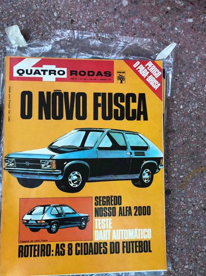 Quatro Rodas 133 Dodge Dart Automatico New Fusca Agosto 1971