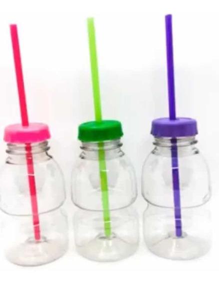Botellitas Souvenir Plásticas Tapa Color X 20 Unidades