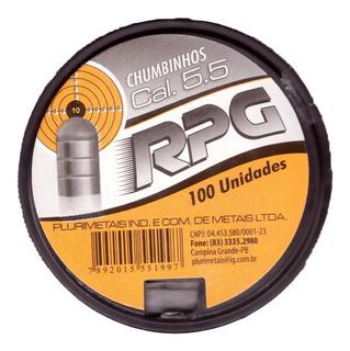 5 Cx Chumbinho Rpg 5.5 Mm Pcp Power Rhino 1,77 G 500 Un