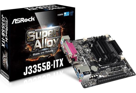 Placa Mãe Mini-itx Asrock + Processad Intel Dual-core J3355b