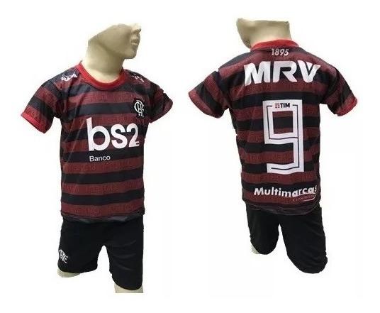 Conjunto De Time Infantil Do Flamengo,camiseta E Shorts