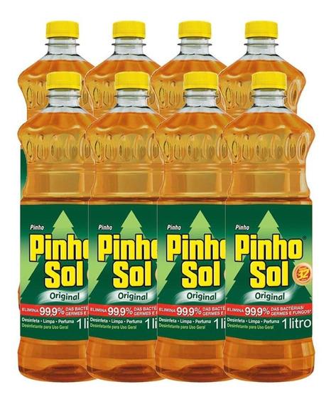 Kit Desinfetante Pinho Sol Original 1l Com 8 Unidades