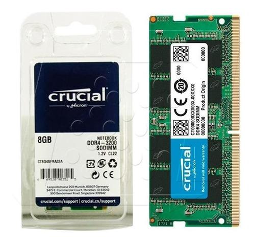 Imagen 1 de 2 de Memoria Crucial 8gb Ddr4 3200 Ct8g4sfra32a Pc4-25600