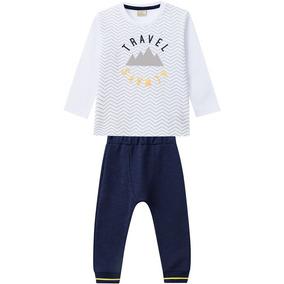 Conjunto Infantil Masculino Camiseta + Calça Milon- G