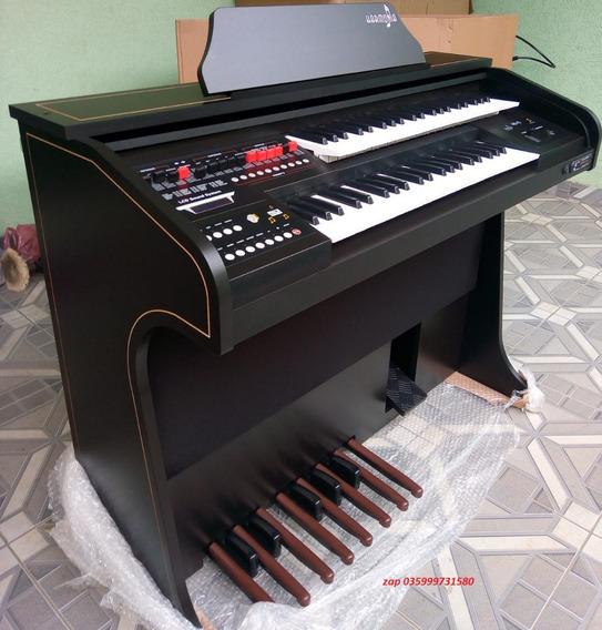 Órgão Eletrônico Harmonia Hs75 Preto Fosco (semi-brilho)