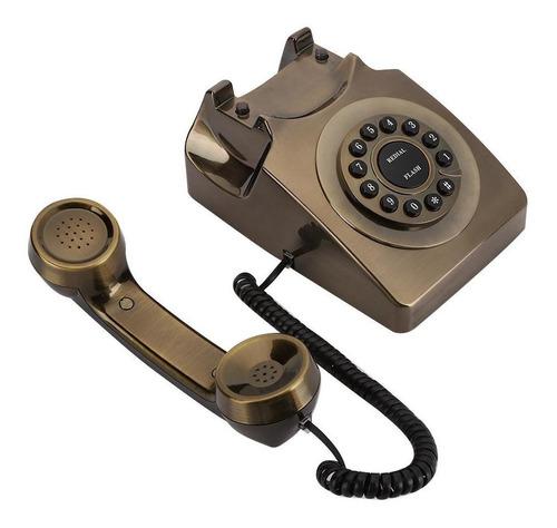 Imagen 1 de 9 de Teléfono De Bronce Antiguo De Fijo Para Oficina Casa