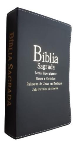 Bíblia Sagrada Letra Hiper Gigante Com Harpa E Corinhos