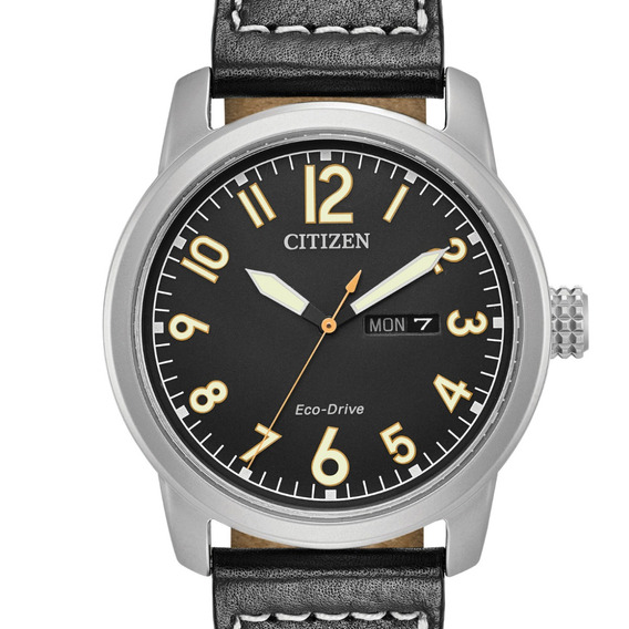 Reloj Hombre Citizen Bm8471-01e Ecodrive Acero Piel Negra