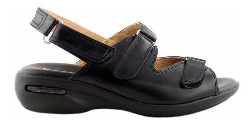 Sandalia Cuero Mujer Briganti Goma Zapato - Mcsd04499