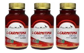 L- Carnitina Pura Gm 3 Fcos 378 Cap 500mg. Quemador De Grasa