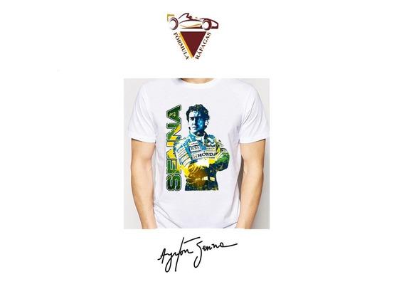 Playera Ayrton Senna Tela Deportiva Y Ajustada Formula 1