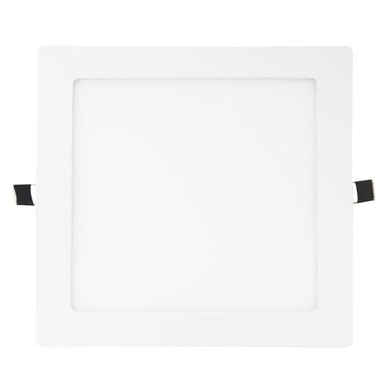 Luminária Plafon Embutir Quadrado Led 18w Led Branco Quente
