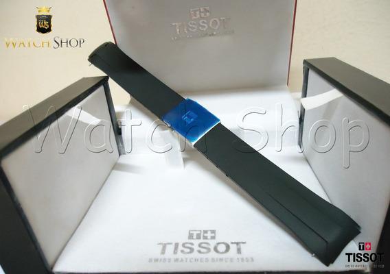 Pulseira De Borracha Tissot Veloci-t T024417a 22mm Preta