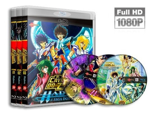 Cavaleiros Do Zodiaco - Saga De Hades Completa Em Blu-ray