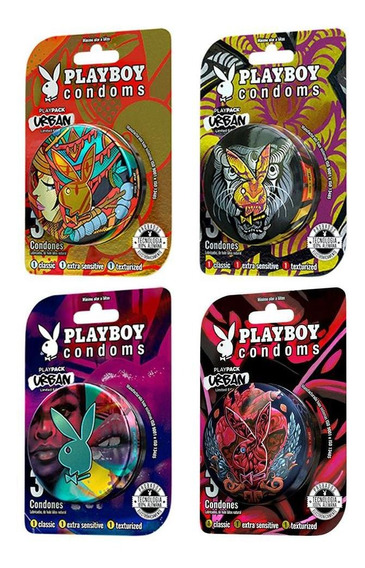 Condones Playboy Playpack Urban Limited Edit 4 Pack - S005