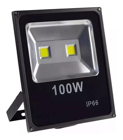 Refletor Led Holofote 100w Bivolt Ip66 Branco Frio W-100w