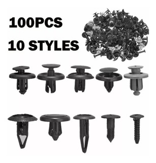 100 Broches Clip Grapas Parachoques Guardafangos Guardapolvo