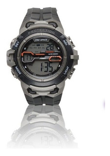 Reloj Pro Space Hombre Caucho Negro Digital 100mts Psh0091